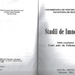 2. Studii de Imnologie Vol. I ISBN, pg. titlu